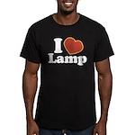 I Love Lamp Men's Fitted T-Shirt (dark)