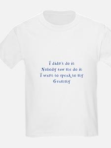 Didn't Do It Grammy Blue T-Shirt