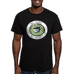 No Coffee, No Workee Men's Fitted T-Shirt (dark)