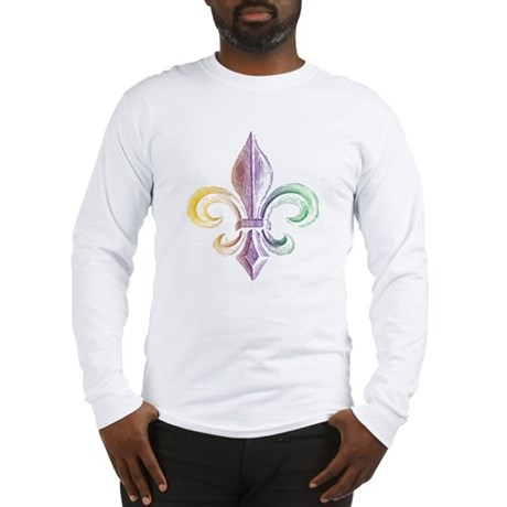 Mardi Gras Fleur De Lis Long Sleeve T-Shirt