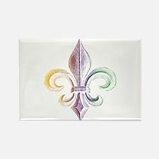 Mardi Gras Fleur De Lis Rectangle Magnet (10 pack)