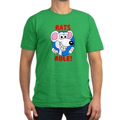 White Rats Rule Men's Fitted T-Shirt (dark)