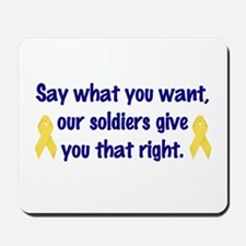 Soldiers Right Mousepad
