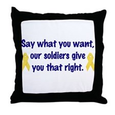 Soldiers Right Throw Pillow