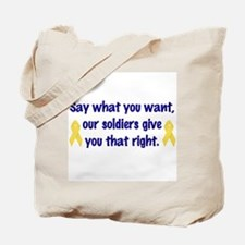 Soldiers Right Tote Bag