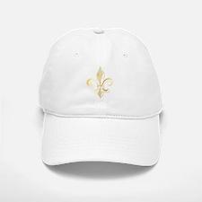 Gold Fleur De Lis Baseball Baseball Cap