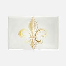 Gold Fleur De Lis Rectangle Magnet (10 pack)