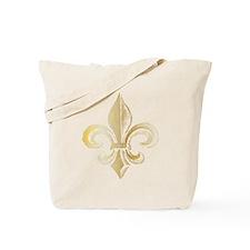 Gold Fleur De Lis Tote Bag