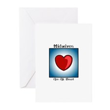 Midwives Are All Heart Greeting Cards (Package of