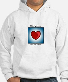 Midwives Are All Heart Hoodie