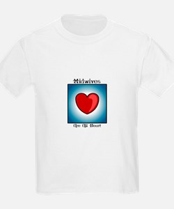 Midwives Are All Heart Kids T-Shirt