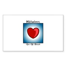 Midwives Are All Heart Rectangle Decal