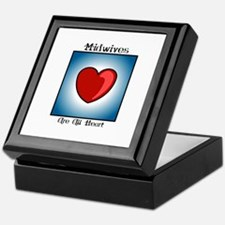 Midwives Are All Heart Keepsake Box