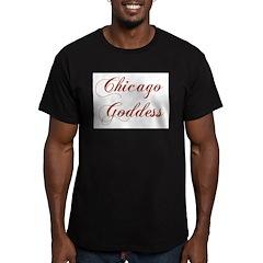 Chicago Goddess Men's Fitted T-Shirt (dark)
