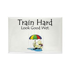 Train Hard Rectangle Magnet (10 pack)