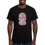Monkey face Men's Fitted T-Shirt (dark)