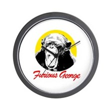 FURIOUS GEORGE Wall Clock