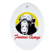 FURIOUS GEORGE Oval Ornament