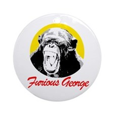 FURIOUS GEORGE Ornament (Round)