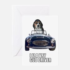 LOL Beagle Driver Greeting Card