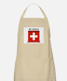 My Swiss Girlfriend Loves Me BBQ Apron