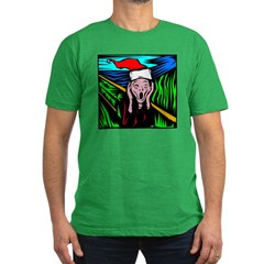 The Christmas Scream Men's Fitted T-Shirt (dark)