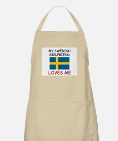 My Swedish Girlfriend Loves Me BBQ Apron