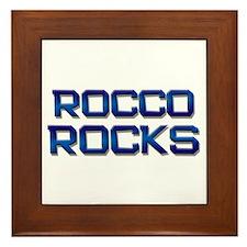 rocco rocks Framed Tile