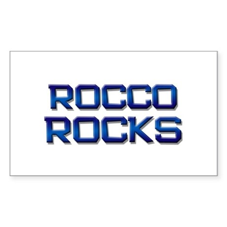 rocco rocks Rectangle Sticker