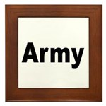 Army Framed Tile