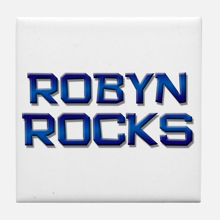 robyn rocks Tile Coaster