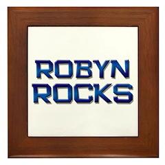robyn rocks Framed Tile