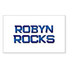 robyn rocks Rectangle Decal