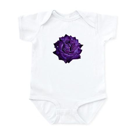 Single Purple Rose Infant Bodysuit