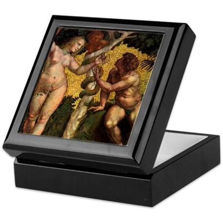 The Fall, Adam and Eve by Raphael Keepsake Box