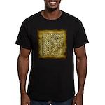 Celtic Letter F Men's Fitted T-Shirt (dark)