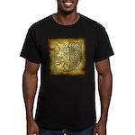 Celtic Letter J Men's Fitted T-Shirt (dark)