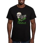 Nihilist Skull Men's Fitted T-Shirt (dark)