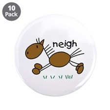 """Brown Horse 3.5"""" Button (10 pack)"""