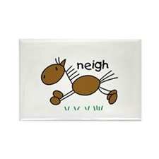 Brown Horse Rectangle Magnet (100 pack)
