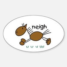 Brown Horse Oval Decal