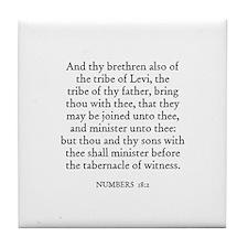 NUMBERS  18:2 Tile Coaster