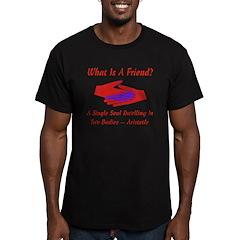 Friend Valentine Men's Fitted T-Shirt (dark)