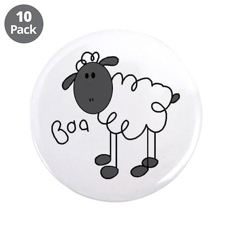 "Baa Sheep 3.5"" Button (10 pack)"