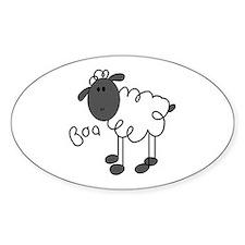 Baa Sheep Oval Decal