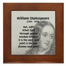 Tragic Love: Romeo and Juliet Framed Tile