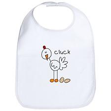 Stick Figure Chicken Bib