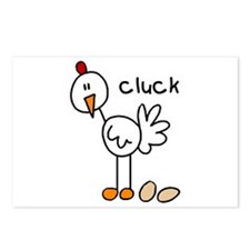 Stick Figure Chicken Postcards (Package of 8)