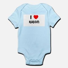 I LOVE KASON Infant Creeper