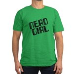 Nerd Girl Men's Fitted T-Shirt (dark)